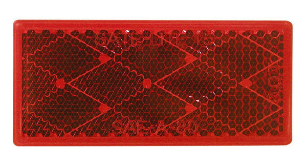 Peterson B483R Red Rectangular Quick-Mount Reflector