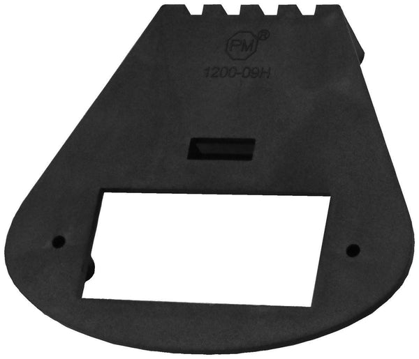 "Peterson 1200-09H BRACKET HORIZ MOUNT OBLONG BLACK 4.13""x3.74"" - Levine Auto and Truck Lighting"