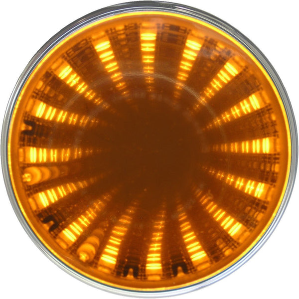 "Peterson 272KA Amber 2.5"" Round LED Auxiliary Tunnel Lights Kit w/3D Illusion"
