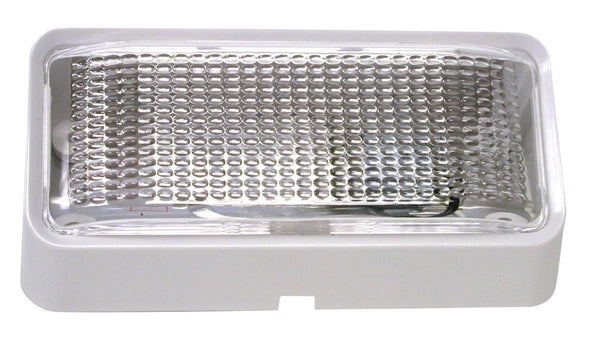 Peterson V384 Clear, White Rectangular Porch/Utility Light w/o Switch