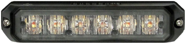 Peterson P4153SA Amber Piranha® LED Compact Programmable Strobe, Surface Mount