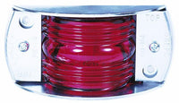 "Peterson 119R Red INCANDESCENT MARKER & CLEARANCE PC RECTANGULAR STL ARMORED 4.5""x2.1875 - Levine Auto and Truck Lighting"
