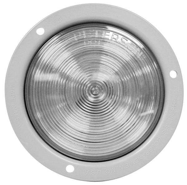 "Peterson M824C-MV Clear 4"" Round LED Back-up Light, Flange Mount, Multi-Volt"