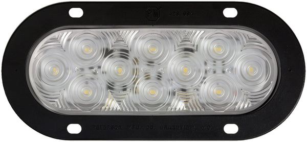 Peterson M822C-10 Clear Oval LumenX® Back-Up Light, Flange Mount