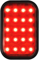 Peterson 850F-SW Red Rectangular LED Rear Fog Light