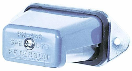"Peterson 436 Clear Oblong License Plate Light 4"" x 2.25"""