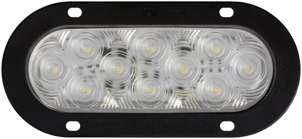 Peterson 823KC-10 Clear LumenX® Oval LED Back-Up Light, AMP Flange Mount Kit