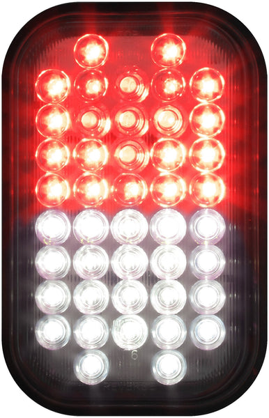 Peterson M850F-C 	Red/White Combination Reverse & Rear Fog Light, Flange Mount