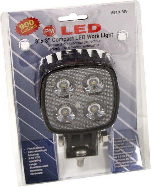 "Peterson V913-MV Great White®  3""x3"" LED Rectangular Compact Work Light"