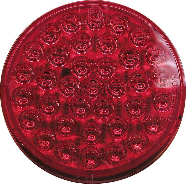 "Peterson 417SR-2 Red 4"" Type 2 Piranha® LED Auxiliary Round Strobing Light"