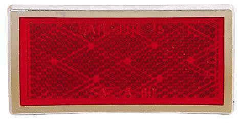 Peterson B484R Red, Chrome Rectangular Quick-Mount Reflectors