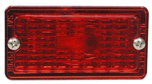 Peterson 126-25R Red Rectangular Clearance/Side Marker Replacement Lens