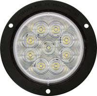 "Peterson 1218KC-9 Clear LED BACK UP LIGHT ROUND ECE AMP FLANGED MOUNT KIT 4"" MULTI-VOLTAGE - Levine Auto and Truck Lighting"