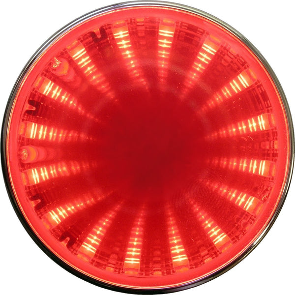 "Peterson M274R Red 2"" Round LED Auxiliary Tunnel Lights w/3D Illusion"