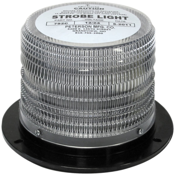 Peterson 792C White 14 Joule Double Flash School Bus Beacon 12-24 Volt