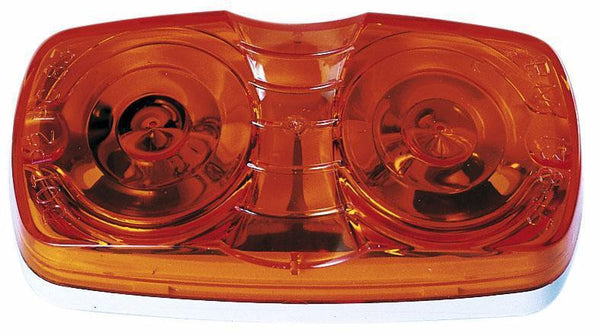 Peterson M138A Amber Double Bulls-Eye Clearance & Side Marker Light