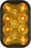 Peterson 850A-1P Amber Rectangular LED Amber Rear Turn Signal w/Hardwired PL3 Plug