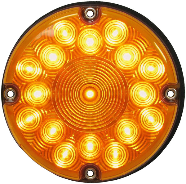 "Peterson 717A Amber 7"" LED Bus Transit Stop/Turn/Tail Light"