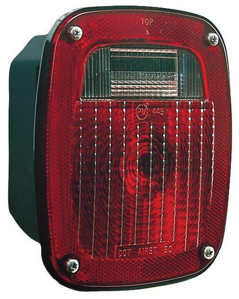 "Peterson 445 RED INCANDESCENT TL UNIVERSAL 3-STUD COMB WITH O LICENSE LIGHT 6.25""x6.75"""