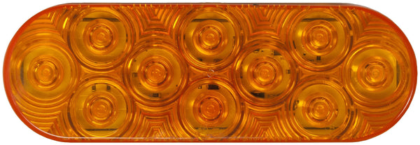 Peterson 1220A-10 Amber LumenX® LED Oval Turn Signal, AMP, Grommet Mount