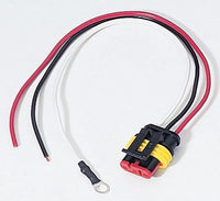 Peterson B417-49 LED 3-Wire Molded Plug w Stripped Leads & Ring Terminal