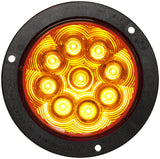 "Peterson 1218KA-9 Amber LED T/S LIGHT ROUND ECE AMP FLANGED MOUNT KIT 4"" MULTI-VOLTAGE - Levine Auto and Truck Lighting"