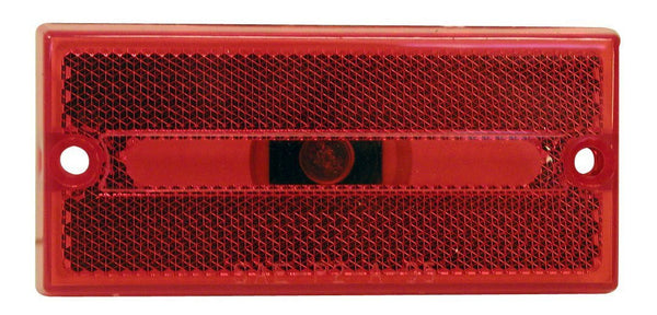 Peterson M132R Red Rectangular Clearance/Side Marker Light with Reflex