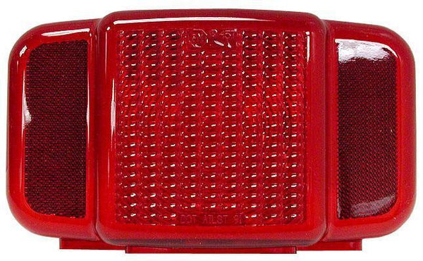 Peterson B457-15 Red Combination Tail Light w/ license, Replacement Lens