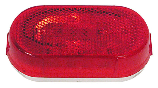 "Peterson 108WR Red INCANDESCENT MARKER & CLEARANCE P2 OBLONG W/ REFLECT LENS 4.07""X2.04"" - Levine Auto and Truck Lighting"