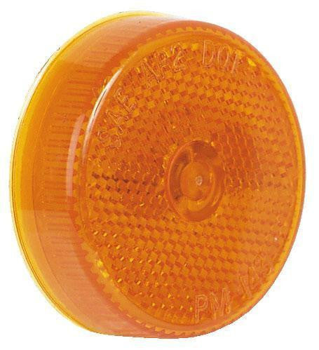 "Peterson M143A Amber 2 1/2"" Clearance/Side Marker Light with Reflex"