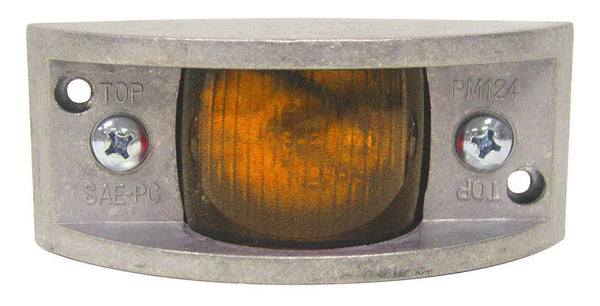 "Peterson 124A Amber INCANDESCENT MARKER & CLEARANCE PC RECTANGULAR DIE CST 4.88""X2"""