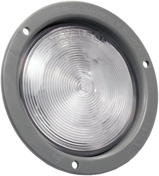 "Peterson 824C-MV Clear LED 4"" Round Back-up Light Flange Mount, Multi-Volt"