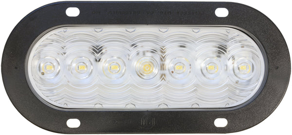 Peterson 822C-7 Clear LumenX® Oval LED Back-Up Light, PL3 Flange Mount