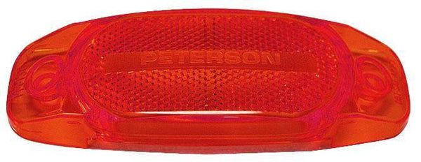 Peterson 130-25R Red Replacement Lens for Hard-Hat Clearance/Side Marker