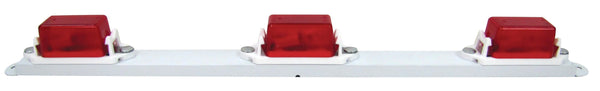 "Peterson 107-3R Red INCANDESCENT ID Mini Light Bar WHITE 16.63""X1.42"" - Levine Auto and Truck Lighting"