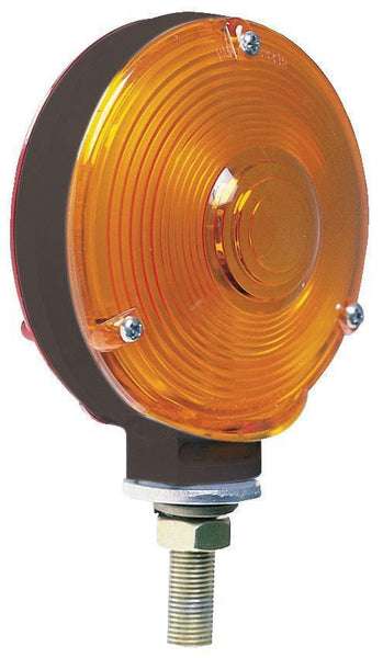 Peterson 335 INCANDESCENT TURN SIGNAL  AMBER/RED ROUND DBL-FACE 4.25""
