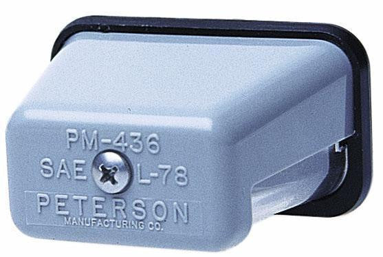 "Peterson 400 Clear Rectangular License Plate Light  2.6875"" x 1.50"""