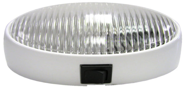 Peterson M382C Clear Oval Euro-Style Porch/Utility Light w/Switch