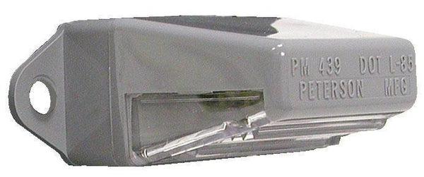 Peterson M439 Clear, Gray License Plate Light