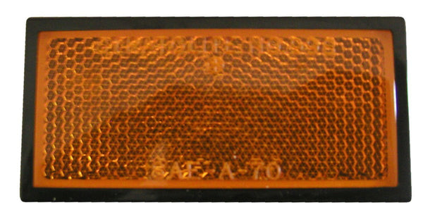 Peterson B485A Amber, Black Plastic Reflectors