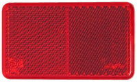 "Peterson 1283R Red REFLECTOR RECTANGULAR ECE COMP 3""X1.75"""