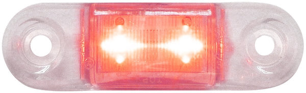 "Peterson 1268R-MVC  Red w/Clear LED SURFACE MOUNT OUTLINE  LIGHT OVAL ECE 2M LDS 2.75""X.75"" MULTI-VOLTAGE"