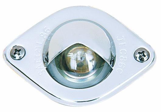 Peterson V437 Clear, Chrome License Plate/Utility Light