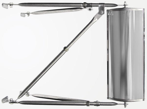 Peterson 667X Stainless-Steel West Coast Mirror Assembly