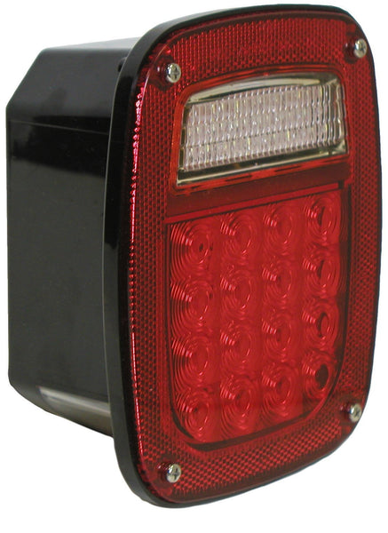 Peterson 845 Red 5/6 Function Rear Combination Light w/o License Light