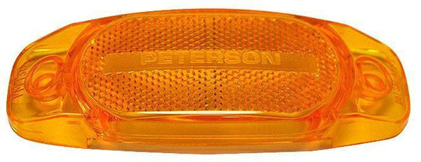 Peterson 130-25A Amber Replacement Lens for Hard-Hat Clearance/Side Marker
