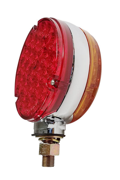 Peterson V338-2 Amber/Red LED Double-Face Round Park & Turn Light