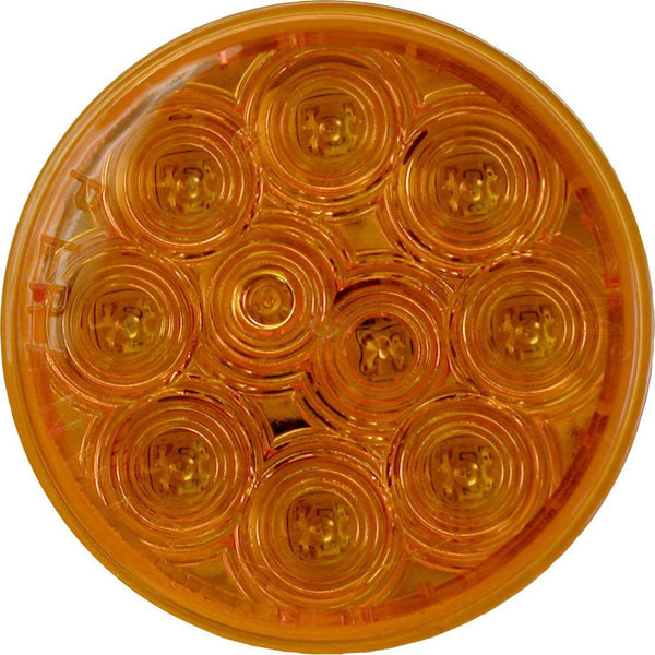 "Peterson 8344A-1 Amber 4"" Round LED Smart Strobe & Rear Turn Signal, Curbside Upper Curbside Upper w/Twin Hardshell"
