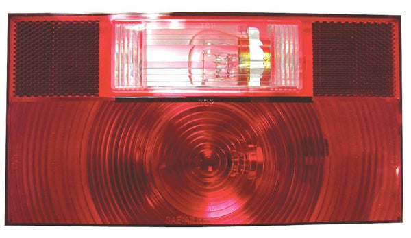 Peterson V25912 Red RV Stop, Turn, & Tail Light w/Reflex and Back-Up Light