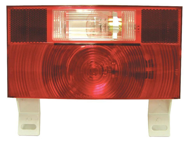 Peterson V25914 Red RV Stop, Turn, & Tail & License Light w/Reflex, Bracket & Back-Up